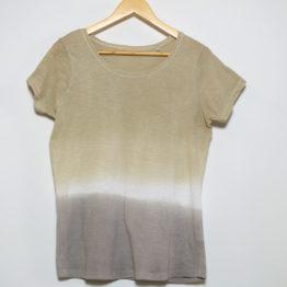 T-Shirt naturally dyed with Eucalyptus